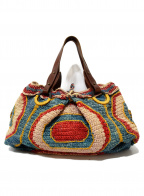 JAMIN PUECH(ジャマンピュエッシュ)の古着「編み込みハンドバッグ」 マルチカラー