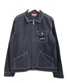 SUPREME(シュプリーム)の古着「コントラストステッチワークジャケット」 ブラック
