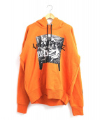 DIESEL(ディーゼル)の古着「刺繍スウェットパーカー」 オレンジ