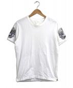 Mastermind JAPAN(マスターマインドジャパン)の古着「スパンコールスカルTシャツ」|ホワイト