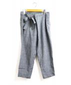 ARTS&SCIENCE(アーツアンドサイエンス)の古着「リボンラップパンツ / ribbon wrap pants」|グレー