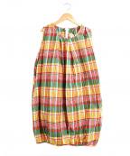 FWk Engineered Garments(エフダブリューケーエンジニアードガーメンツ)の古着「チェックバルーンワンピース」|マルチカラー