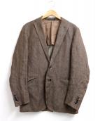 CORNELIANI(コルネリアーニ)の古着「リネンテーラードジャケット」|ブラウン
