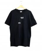 SUPREME×COMME des GARCONS SHIRT(シュプリーム×コムデギャルソンシャツ)の古着「スプリットボックスロゴTシャツ」|ブラック