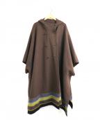 TOKUKO1erVOL(トクコプルミエヴォル)の古着「[古着]刺繍デザインケープコート」 ブラウン