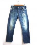 DIESEL(ディーゼル)の古着「ユーズド加工デニムパンツ」|インディゴ