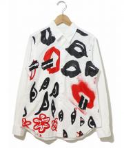 COMME des GARCONS(コムデギャルソン)の古着「プリントシャツ」 ホワイト