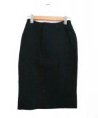 CHANEL(シャネル)の古着「ウールコクーンスカート」|ブラック