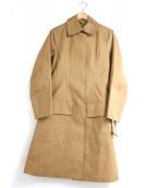 MACKINTOSH(マッキントッシュ)の古着「ゴム引きステンカラーコート」 ブラウン