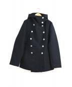C.P COMPANY(シーピーカンパニー)の古着「メルトンフーデッドショートコート」|ブラック