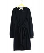 N°21 NUMERO VENTUNO(ヌメロヴェントゥーノ)の古着「ベルテッドニットワンピース」|ブラック