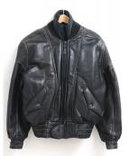 KADOYA(カドヤ)の古着「レザーバイカージャケット」|ブラック