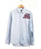 Marc by Marc Jacobs(マークバイマークジェイコブス)の古着「ストライプシャツ」|ブルー×ホワイト