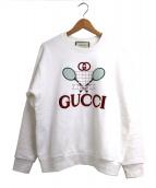 GUCCI(グッチ)の古着「テニスオーバーサイズスウェットシャツ」 ホワイト