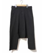 BLACK COMME des GARCONS(ブラックコムデギャルソン)の古着「サルエルポリパンツ」|ブラック