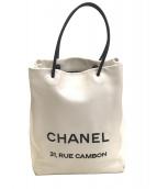 CHANEL(シャネル)の古着「エッセンシャルショッピングトート」|ホワイト