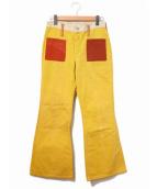 Wrangler(ラングラ)の古着「クレイジーパターンベルボトムパンツ」|イエロー