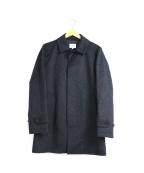 SHIPS JET BLUE(シップスジェットブルー)の古着「ウールステンカラーコート」 ネイビー