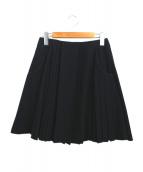 mame(マメ)の古着「Pleated Skirt」|ブラック