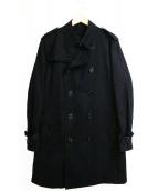 BLACK LABEL CRESTBRIDGE(ブラックレーベル・クレストブリッジ)の古着「ライナー付トレンチコート」 ブラック