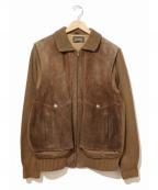 Sears(シアーズ)の古着「[古着]袖切替スエードジャケット」|ブラウン