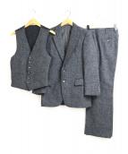 Burberrys(バーバリーズ)の古着「3ピースツイードウールスーツ」|グレー