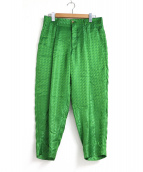 COMME des GARCONS HOMME(コムデギャルソンオム)の古着「Green Checked Trousers」|グリーン