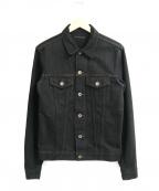 LOUNGE LIZARD(ラウンジリザード)の古着「ブラックデニムジャケット」|ブラック