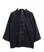 SOU・SOU(ソウソウ)の古着「和袖プリントシャツ」|ブラック