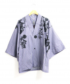 SOU・SOU(ソウソウ)の古着「和物プリントシャツプルオーバー」|パープル×グレー