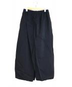 SOU・SOU(ソウソウ)の古着「ワイドスリットパンツ」|ブラック