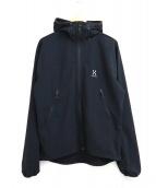 HAGLOFS(ホグロフス)の古着「フーデッドジャケット / BOA HOOD」|ブラック