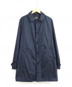 ASPESI(アスペジ)の古着「ナイロンステンカラーコート」 ネイビー