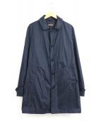 ASPESI(アスペジ)の古着「ナイロンステンカラーコート」|ネイビー