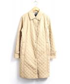 BURBERRY LONDON(バーバリーロンドン)の古着「裏ノバチェックキルティングコート」|ベージュ