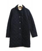 Traditional Weatherwear(トラディショナル ウェザーウェア)の古着「裏レオパードキルティングコート」|ブラック