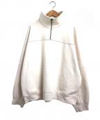 KIIT(キート)の古着「ハーフジップスウェット」|アイボリー