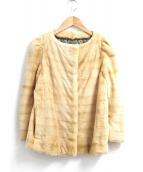 Drawer(ドゥロワー)の古着「ウィーゼルファージャケット」|ベージュ