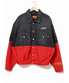 HERON PRESTON(ヘロン プレストン)の古着「切替デニムジャケット」|ブラック