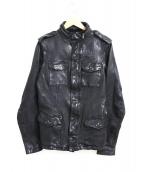 ISAMU KATAYAMA BACKLASH(イサムカタヤマバックラッシュ)の古着「製品染めレザージャケット」|ブラック