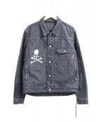 Mastermind JAPAN(マスターマインドジャパン)の古着「13oz ボーダーダメージデニムジャケット」|ブラック