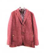 INTERMEZZO(インターメッツォ)の古着「ダウンベストライナー付ウールジャケット」|レッド