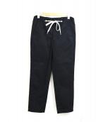 .efiLevol(エフィレボル)の古着「シューレースベルトテーパードパンツ」|ブラック