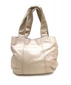 FURLA(フルラ)の古着「リボン付レザーハンドバッグ」|ベージュ