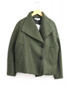 UNTITLED(アンタイトル)の古着「ワイドカラーウールコート」 オリーブ