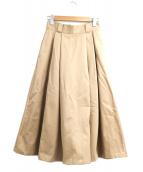 DANTON(ダントン)の古着「チノクロスタックロングスカート」 ベージュ