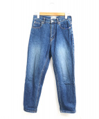SERGE de bleu(サージ)の古着「ハイウエストクロップドジーンズ」|インディゴ