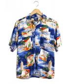 POLO RALPH LAUREN(ポロラルフローレン)の古着「アロハシャツ/ハワイアンシャツ」|ブルー
