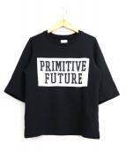 Americana×L'Appartement(アメリカーナ×アパルトモン)の古着「別注半袖スウェットTシャツ」|ブラック
