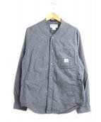 SASSAFRAS(ササフラス)の古着「ベースウォールシャツ」|グレー